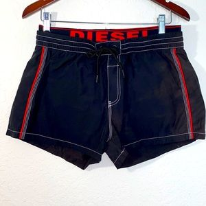 Diesel Black & Red Swim Trunks Size Medium